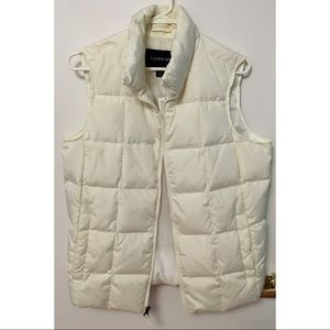 Lands End White/Ivory Down Vest